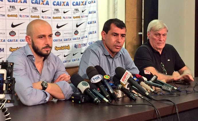 Alessandro Nunes Fabio Carille Flavio Adauto Corinthians (Foto: Diego Ribeiro)