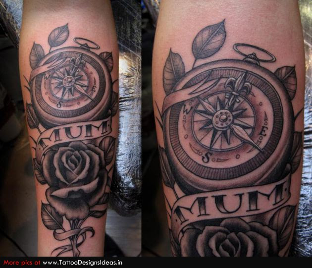 Tattoo Design Of Rose Tattoos Compass Tattoos Tattoomagz