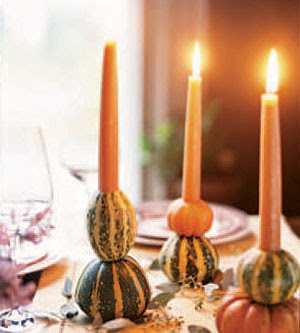 gourd candlestick holders