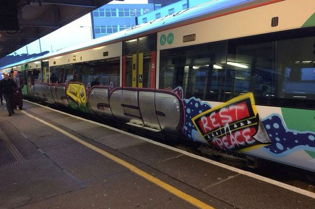 Street art: The tribute went down well with commuters