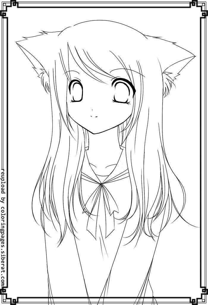 8700 Cute Anime Cat Girl Coloring Pages Download Free Images