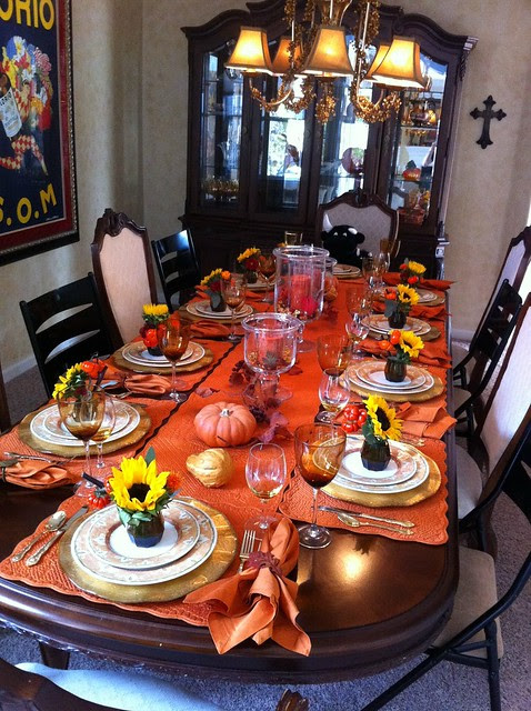 Table for the Fall Dinner Party