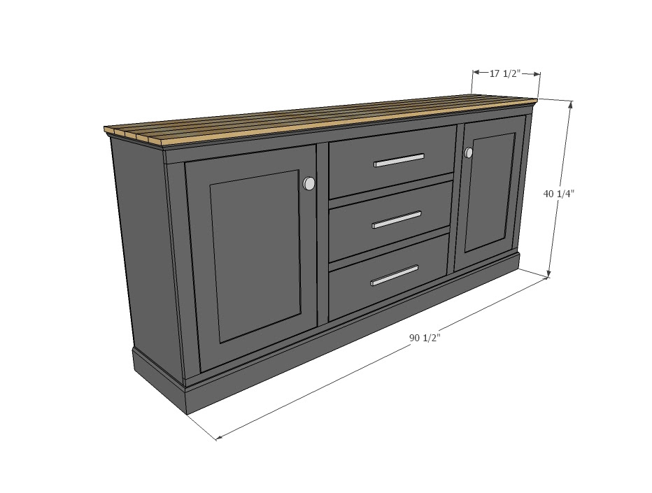 Free Woodworking Plans For Sideboard Woodworking New Albany