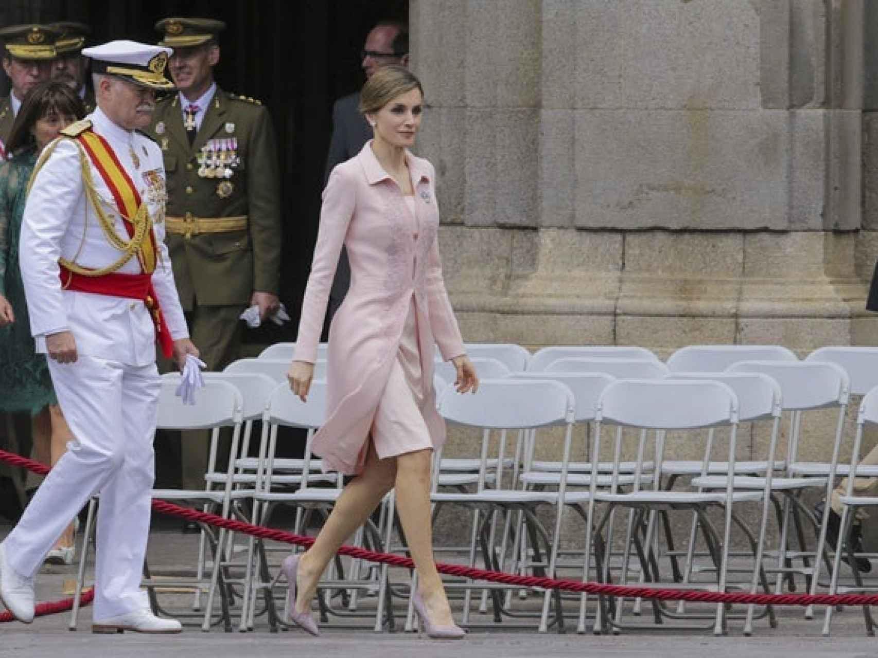 Letizia, el pasado mes de junio, durante un acto militar en Salamanca.