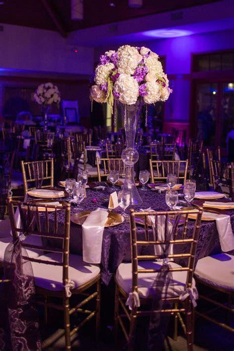Purple, gold wedding decor   My Wedding   Wedding