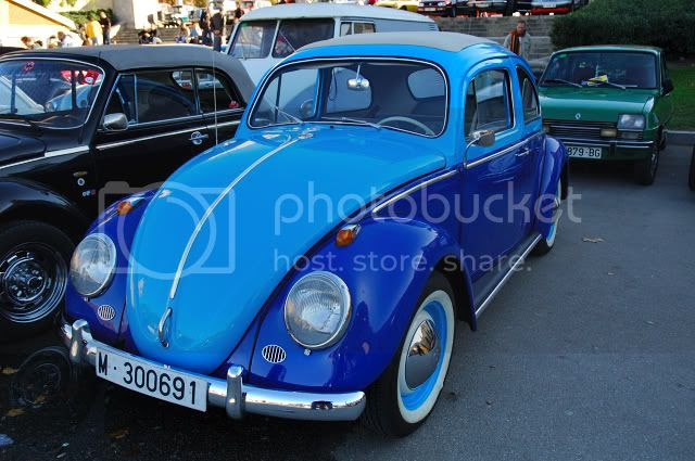 Classic Cars: Beetle VW in Blue [enlarge]