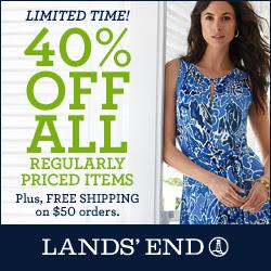 Lands' End 40% off Reg