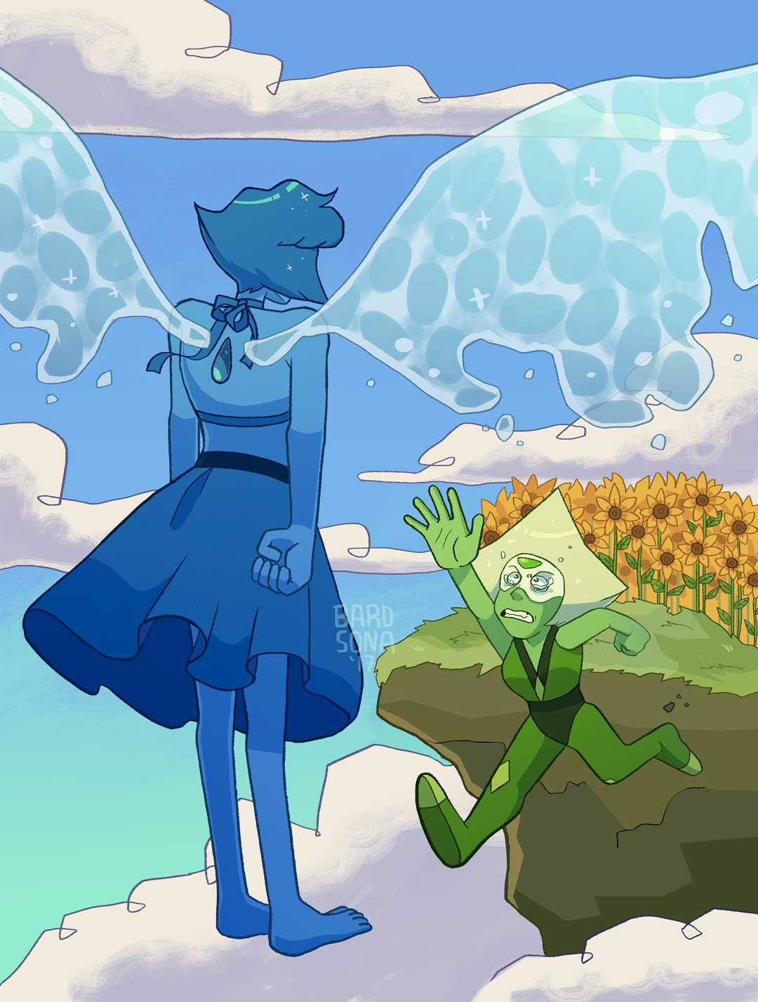 Been thinking a lot about Peridot, sunflowers, and Mother 3 imagery