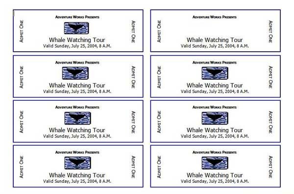 free printable tickets for events