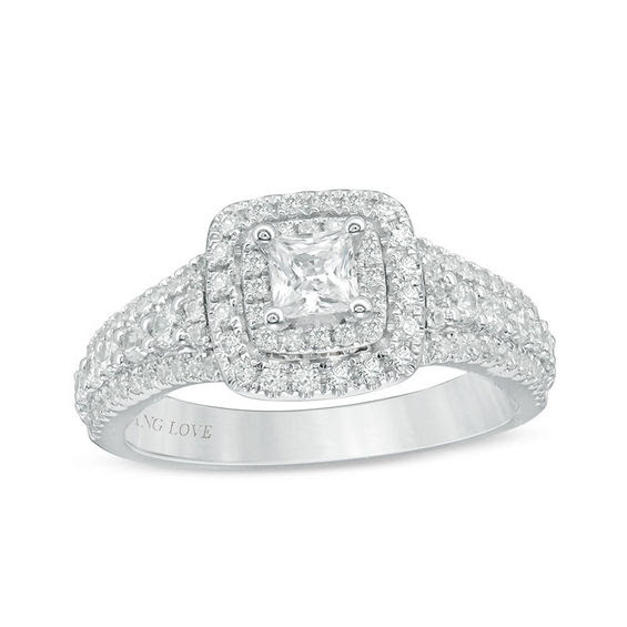 Vera Wang Love Collection 1 Ct Tw Princess Cut Diamond Double