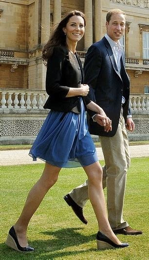 Pictures of Kate Middleton in Blue Zara Dress Post Wedding