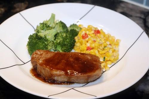 balsamic and brown sugar pork chops