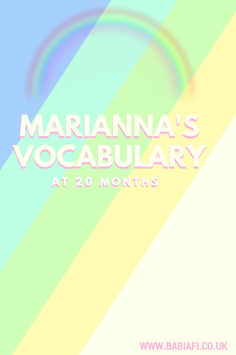 Marianna's Vocabulary at 20 Months