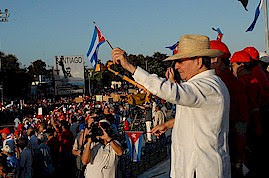 Cuban President Raul Castro presides over the annual May Day march and rally for 2011. The socialist state recently experienced the 6th Congress of the ruling Communist Party. by Pan-African News Wire File Photos