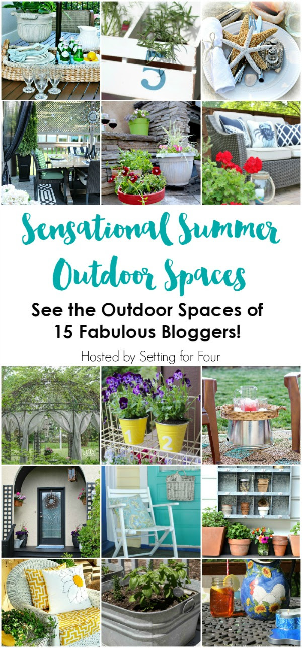Beautiful ideas to decorate your outdoor spaces.  Can't wait to try some of these!