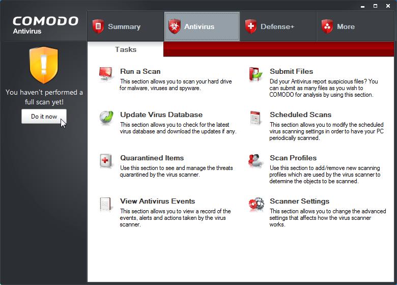 Comodo antivirus 2012