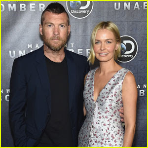 Sam Worthington Rocks Mohawk at 'Manhunt: Unabomber' Premiere With Wife Lara Bingle