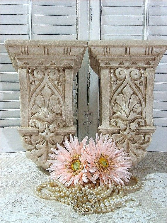 Set of 2 Curtain Rod Holders Corbels- Sconces-Wall    Want For My …