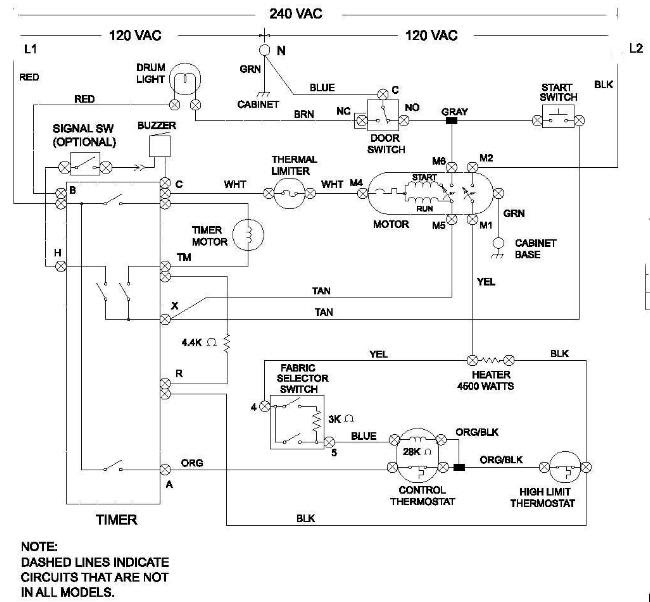 Gas Dryer Diagram