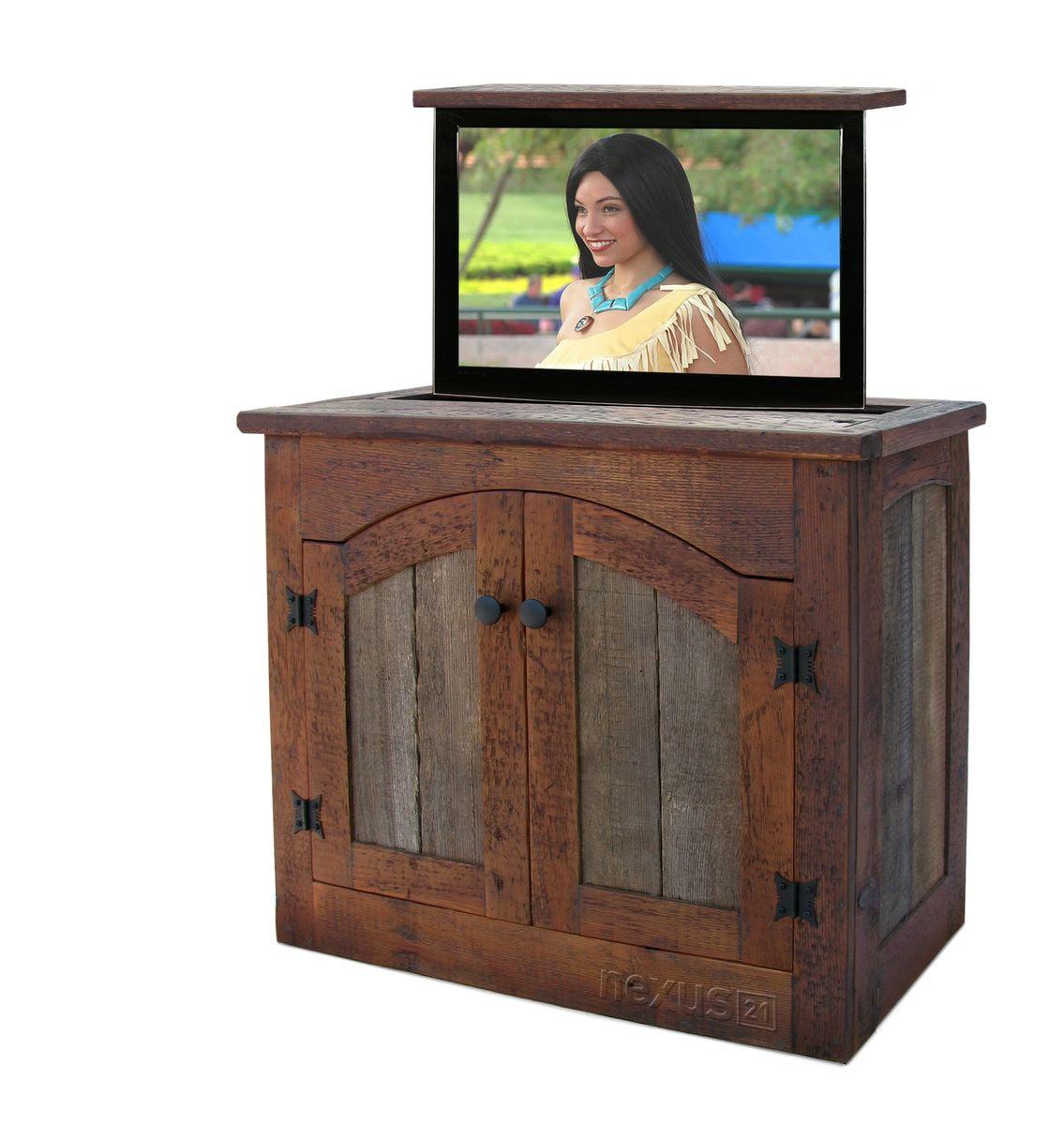 Custom Made Rustic Tv Lift Cabinet - Small by Custom ...