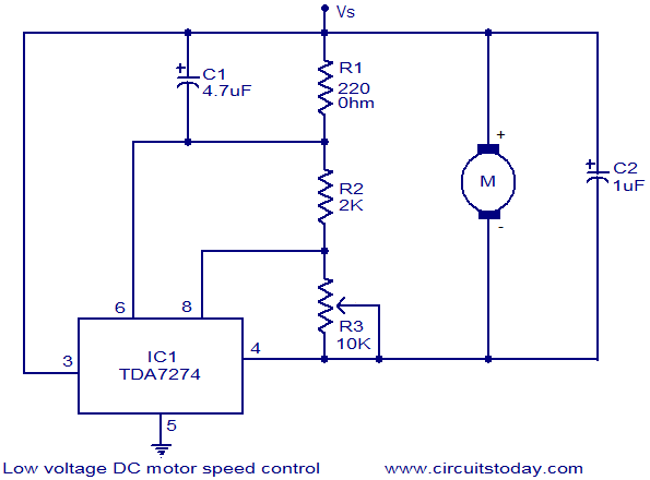 low voltage DC motor speed control