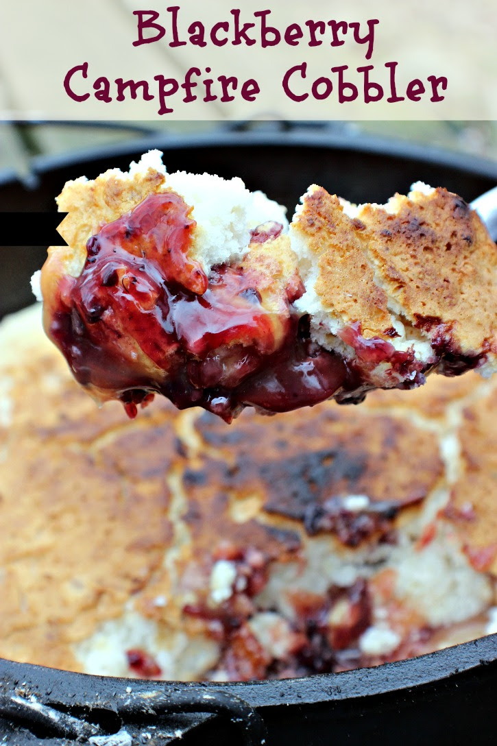 3 Ingredient Blackberry Campfire Cobbler - Just 2 Sisters - HMLP 86 - Feature