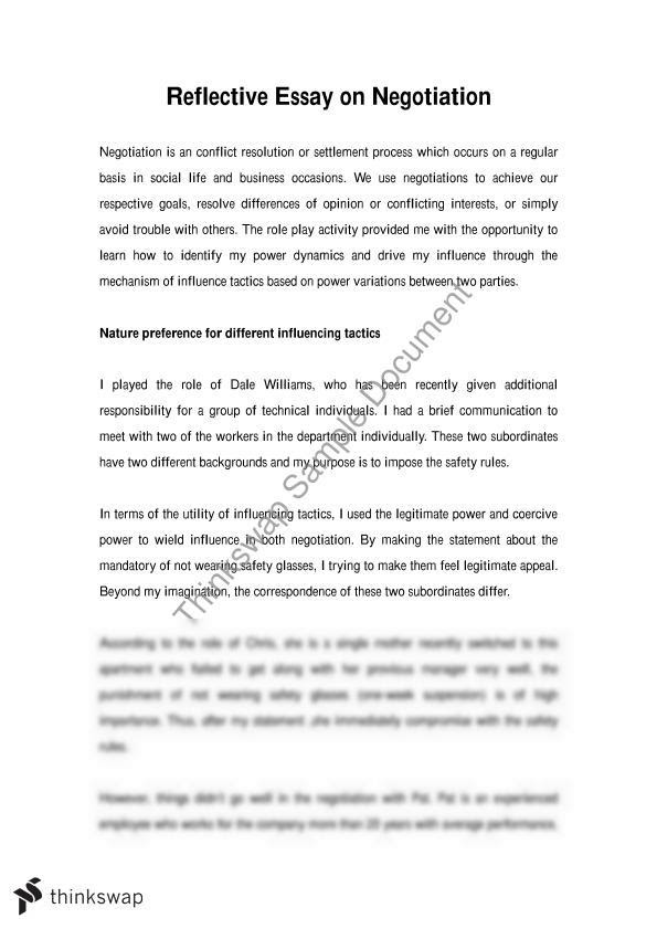writing a thesis statement for a reflection paper
