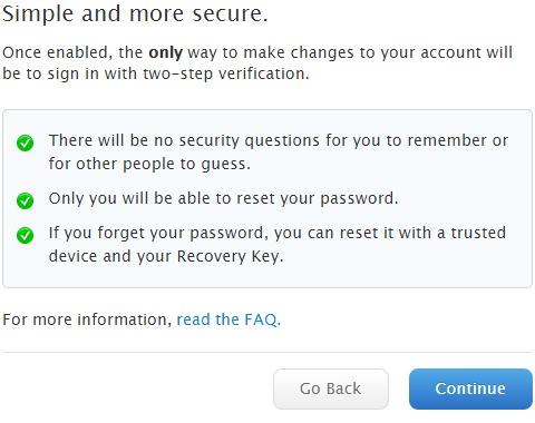 Bảng hướng dẫn minh họa cách đăng ký bảo mật 2 bước tài khoản AppleID