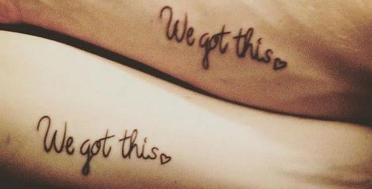 Boy And Girl Friendship Matching Tattoos