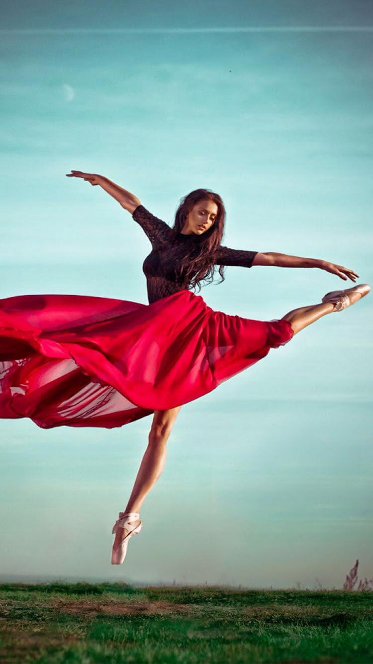 赤いドレスのバレエダンサーの女の子iphone 6壁紙 Iphoneチーズ