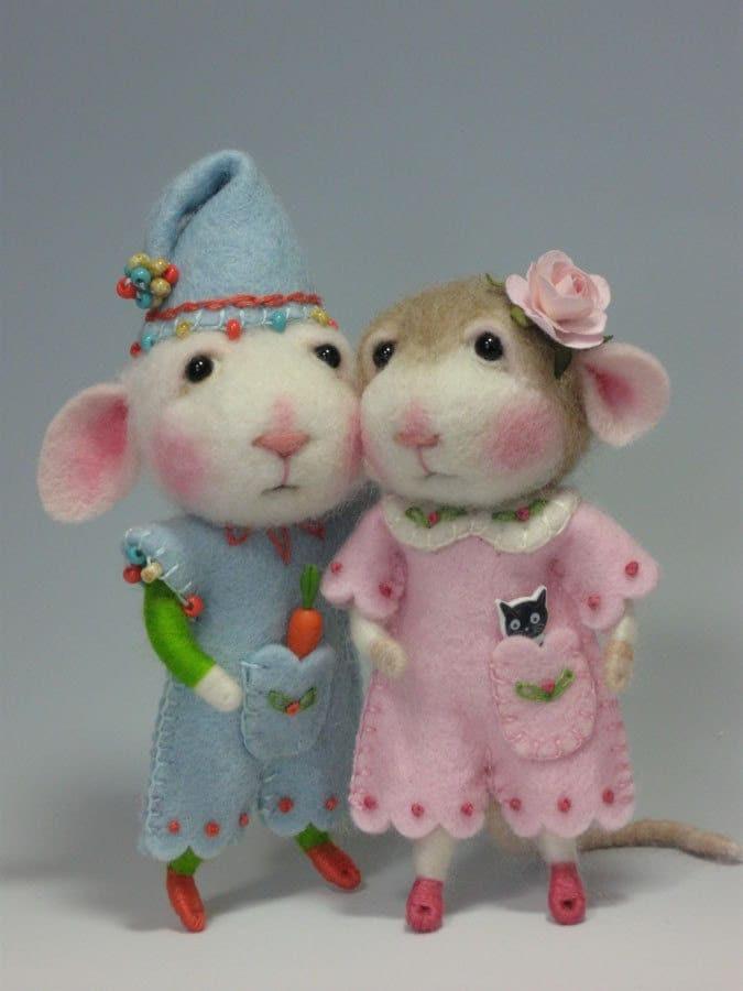 keçe oyuncak fareler