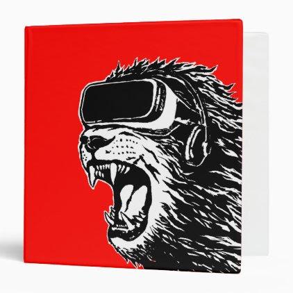 VR Lion 3 Ring Binder