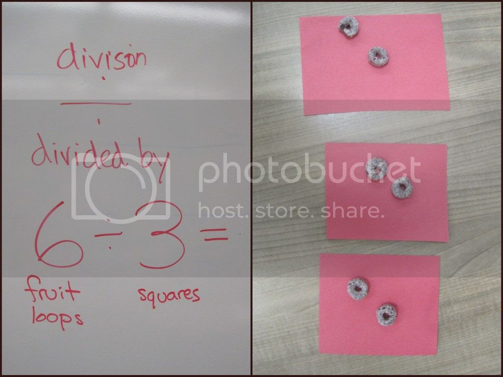 Teaching Division with Fruit Loops {Breezy Pink Daisies}
