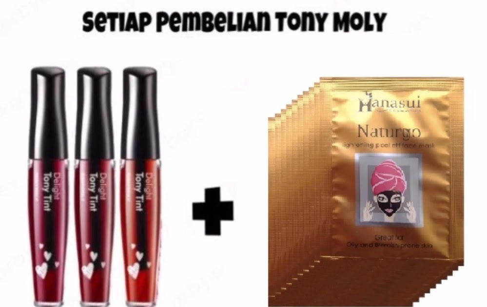 DAFTAR HARGA Tony Moly Delight Tony Tint No. 2 Apple Red + Hanasui Naturgo BPOM