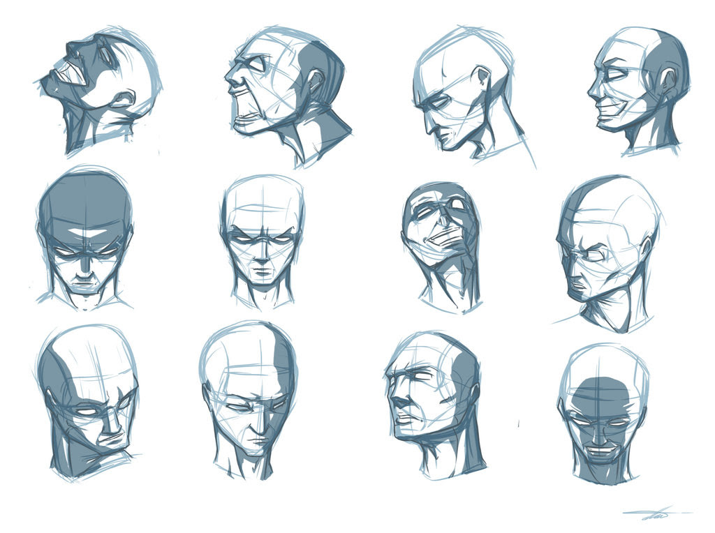 Face Planes Drawing