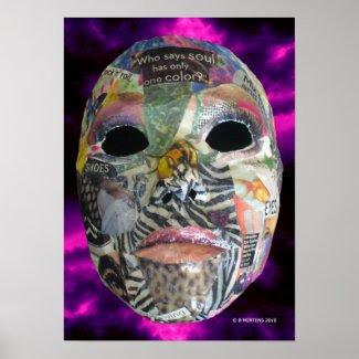Soul of Color Mask Print print