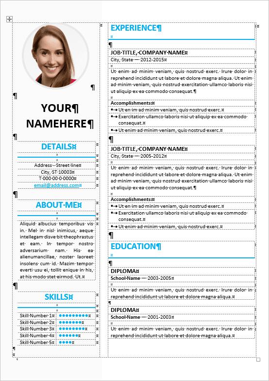 Ikebukuro Word Resume Formatted