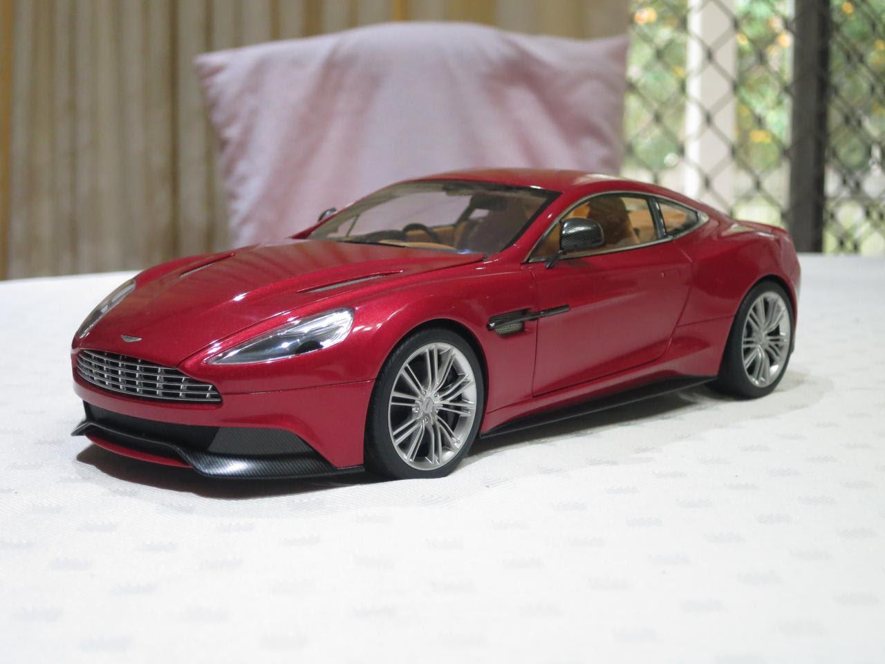 Aston Martin Vanquish 1 18 Volcano Red Autoart Diecastxchange Com Diecast Cars Forums