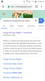 How to report an image privacy violation on Facebook.