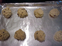 Chelle's recipe - drop onto cookie sheet and bake