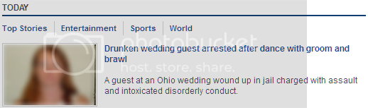 headline: 'Drunken wedding guest arrested after dance with groom and brawl'