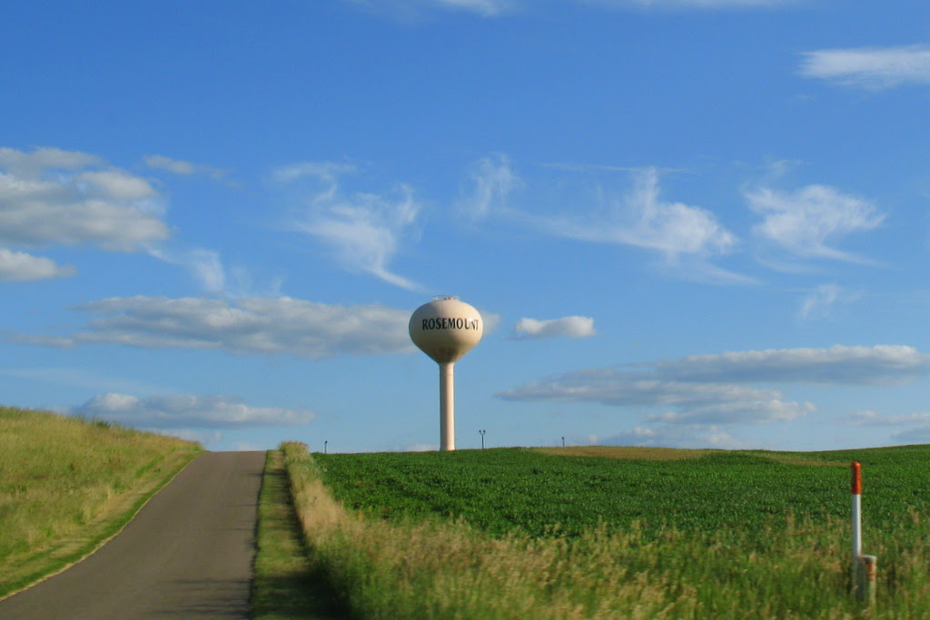 In the city of Rosemount, this road leads to one of their water towers.