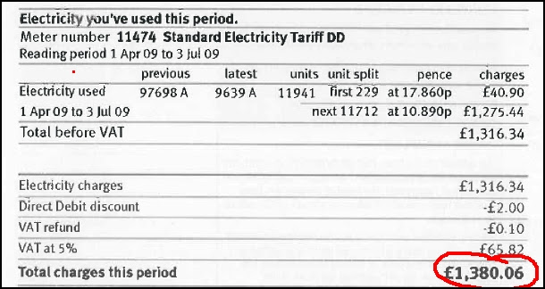 Electricity bill. Surely some mistake?