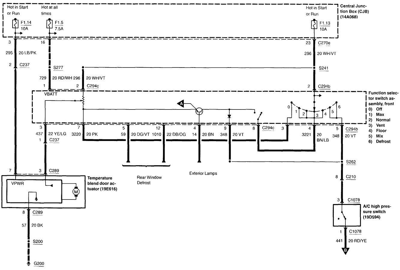 Ford Air Conditioning Diagram