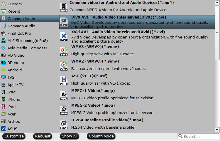 Output VirtualDub supported editing formats