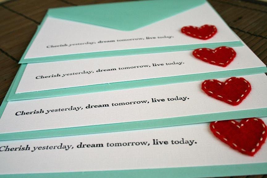 cherish heart notecard set.