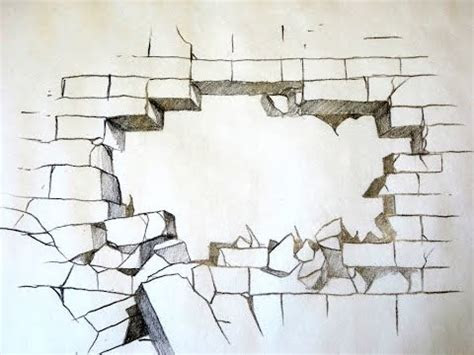 draw  broken brick wall  original youtube