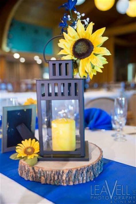 Lantern with sunflower wedding centerpiece   7*6*2013