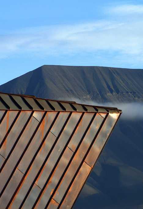 copper-clad Svalbard Science Centre
