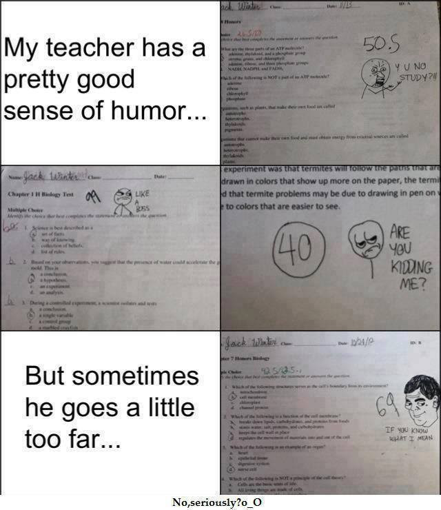 Teacher With A Good Sense Of Humor Funny Pictures Quotes Memes